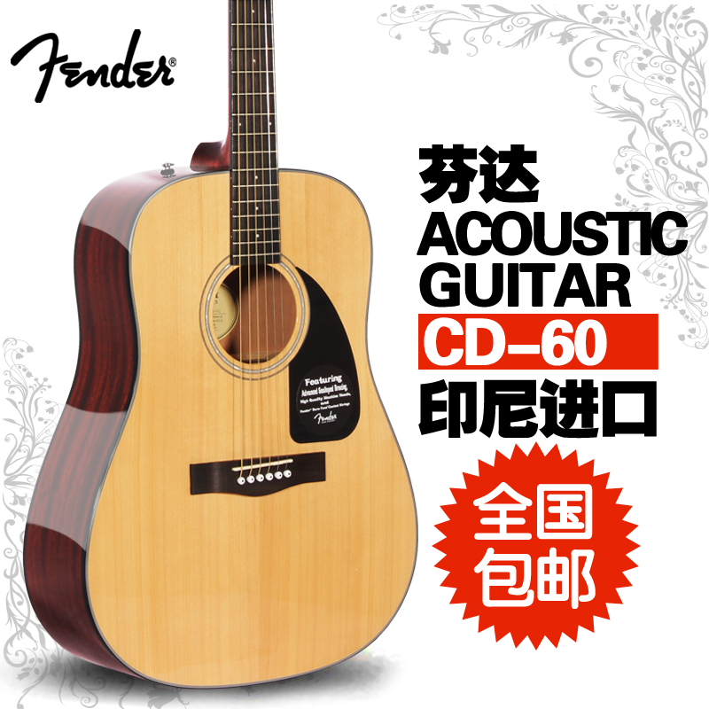 41 free shipping fender fender cd60 acoustic guitar beginners guitar acoustic guitar spruce guitar