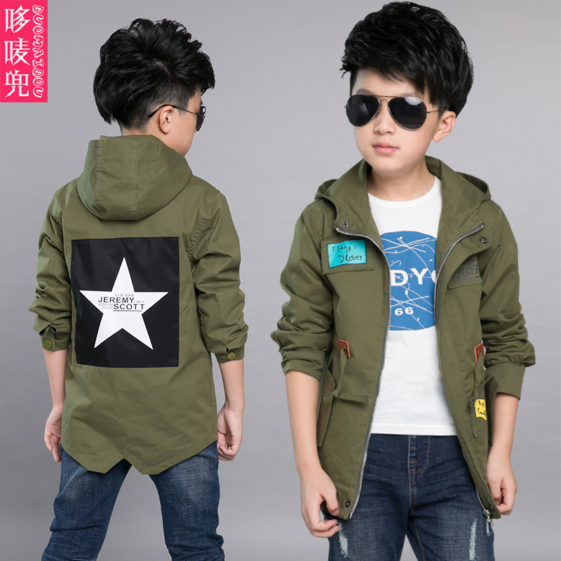 5 boys autumn 2016 new children wear 6 7 kids clothes 4 8 boys windbreaker 9 spring and autumn 10 new coat 12 years old tide