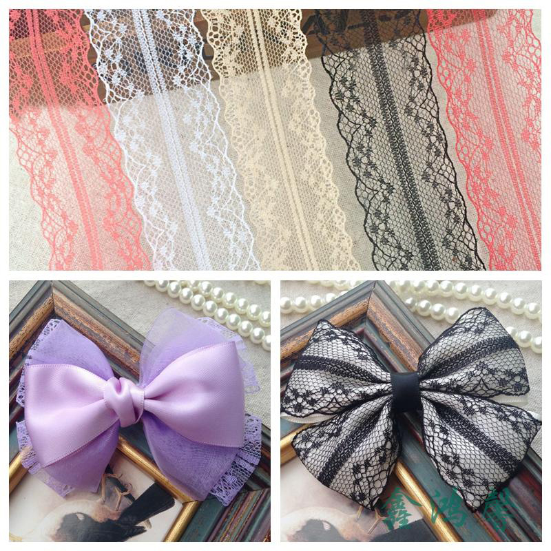 5 m bow jewelry 9 color lace openwork lace diy handmade hair accessories hairpin material 42MM