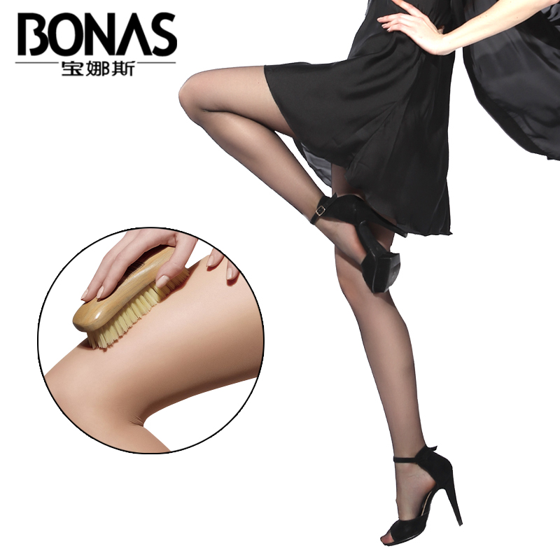 5 pairs of dress po lady stockings female spring and summer thin models sexy stockings rompers anti hook wire was thin long black Flesh