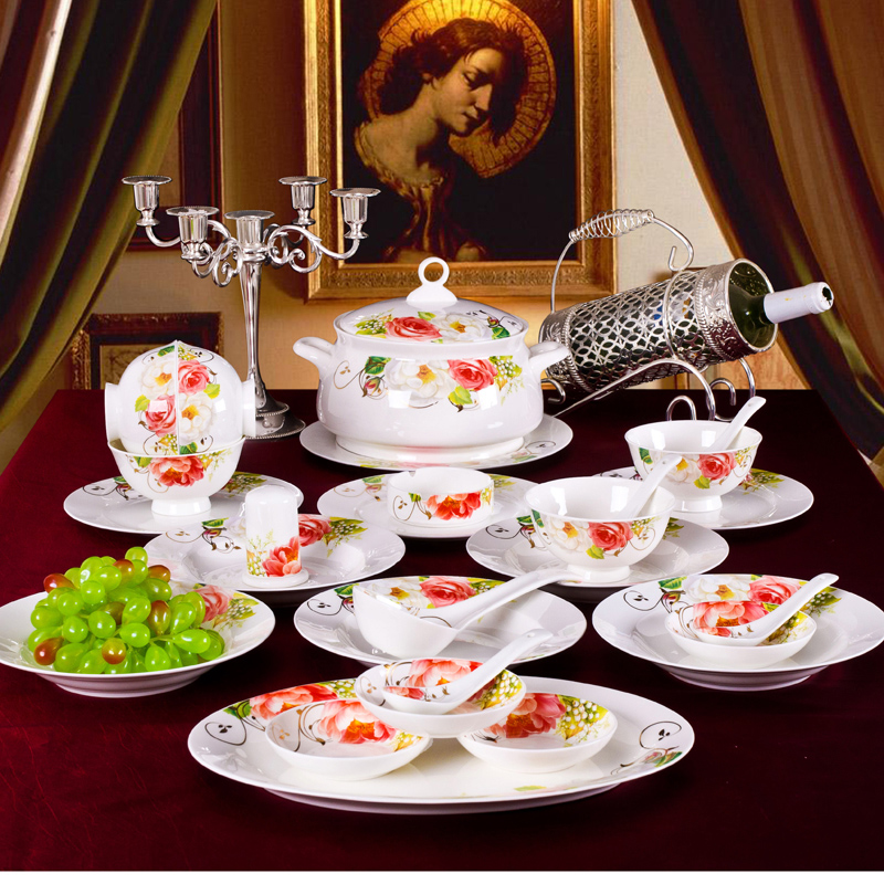 Get Quotations · 56 sets of western european ceramic tableware suit exquisite bone china dinnerware dish dishes phnom penh & China European Dinnerware Sets China European Dinnerware Sets ...