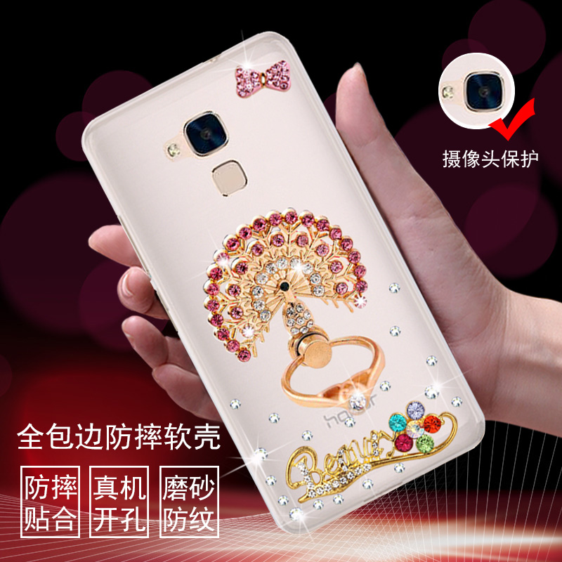 5c mobile phone sets protective sleeve huawei glory glory 5c 5c mobile phone shell protective shell transparent soft shell drop resistance sets rhinestone