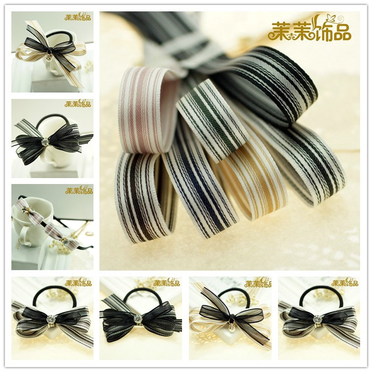 5cm south korea imported 13.358kj stripes with diy hair accessories ribbon material diy handmade hair accessories korean jewelry