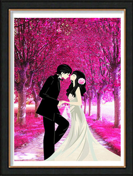 5d diamond diamond embroidery painting full of diamond wedding couple festive living room bedroom stitch square full of diamond drill all posted diamond paste diamond circle