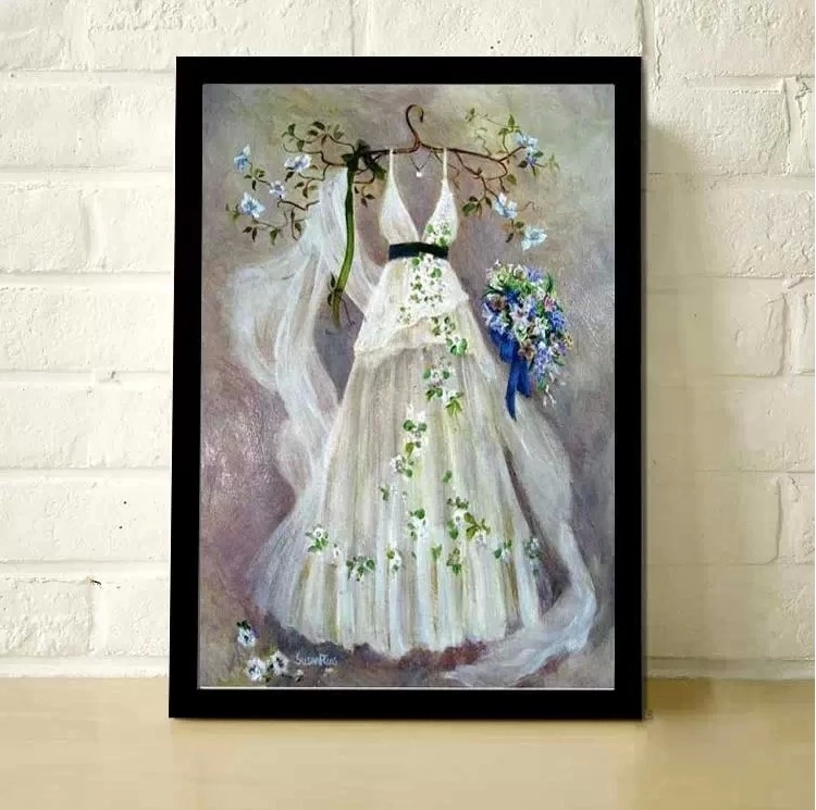 5d diamond diamond embroidery painting square diamond diamond stitch embroidery stick drill painting the living room full of diamond round diamond wedding dream wedding dress