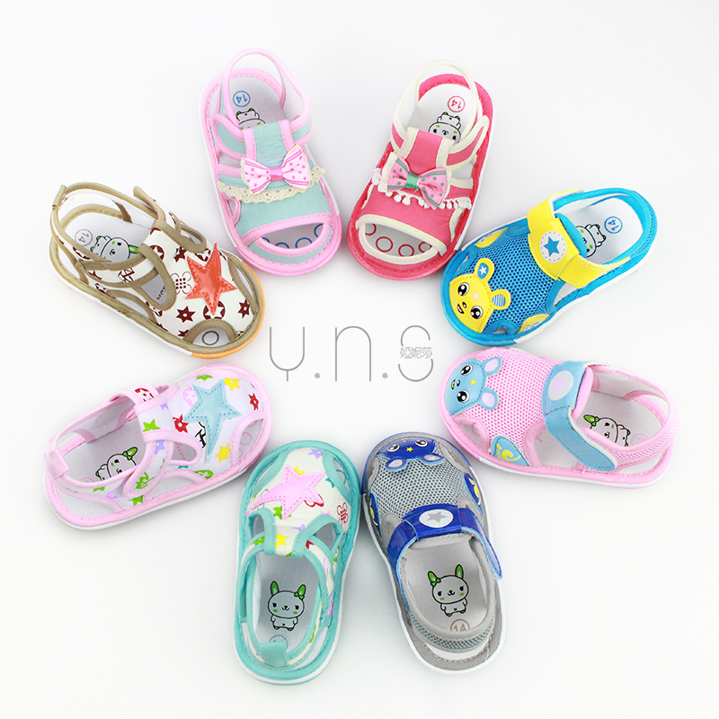 6-12-15 months baby jiaojiao summer sandals baotou baby toddler shoes for men and women slip tendon at the end 0-1-2-year-old