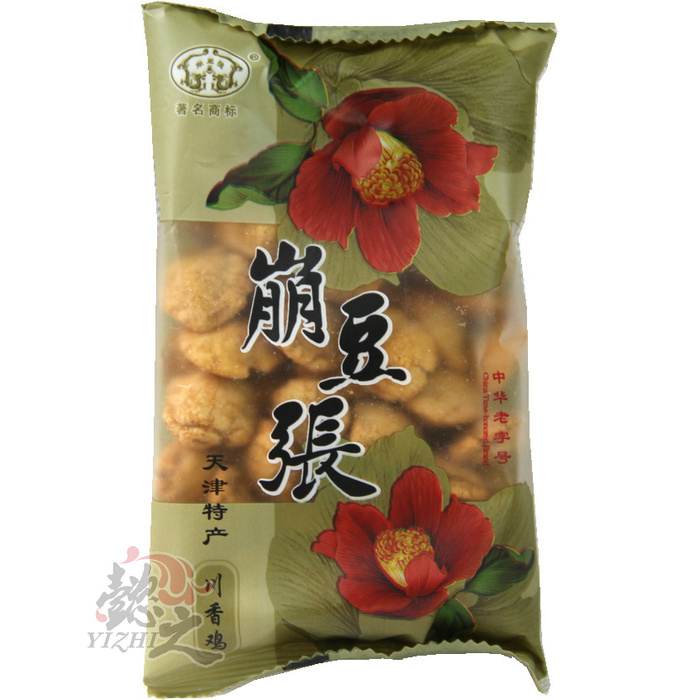 6 bags of many provinces shipping tianjin specialty collapse beans zhang tianjin fruit flavor beans 100g snack snack