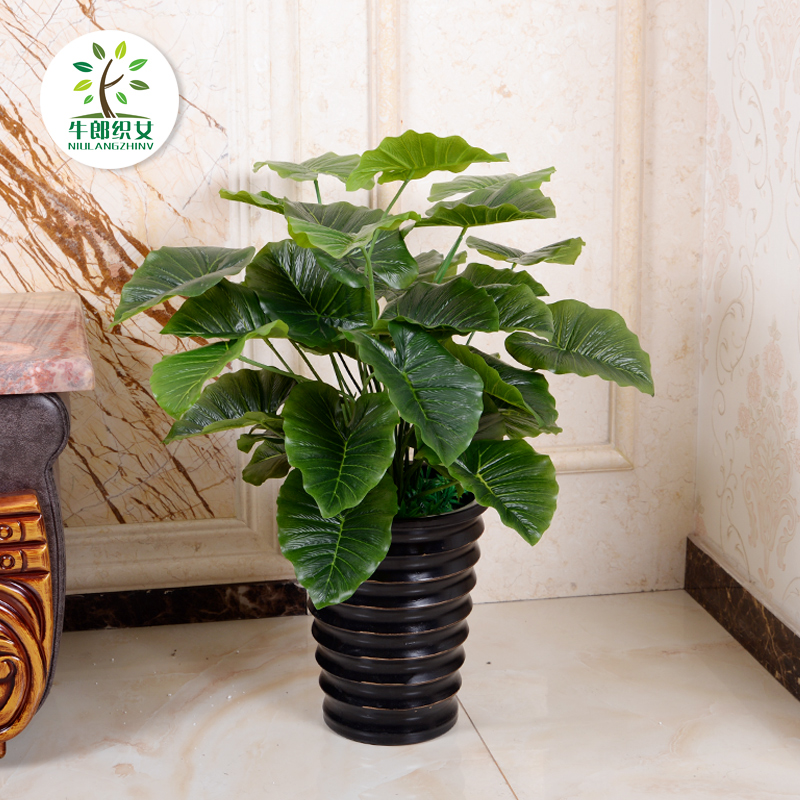 60CM dripping guanyin simulation flowers decorate the living room floor suite artificial flowers and plants indoor potted plants trees small decorative flower