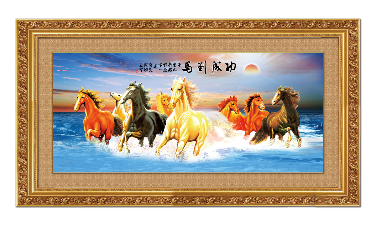 747 poster panels inkjet printed 149 eight horses madaochenggong rising sun eaståwall painting decorative painting
