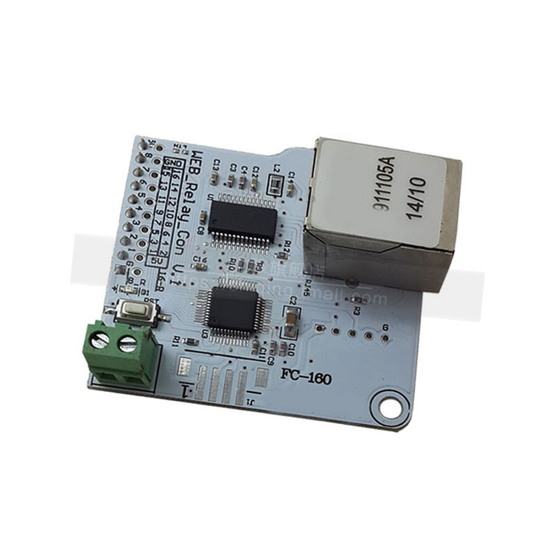8 road relay control module 28j60 network control board power supply control centralized management network control
