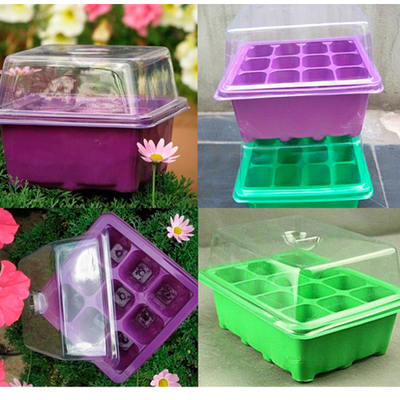 9 holes and 12 holes plastic nursery seedling nursery box box plug seedling nursery block insulation moisture nursery seedling pots bowl