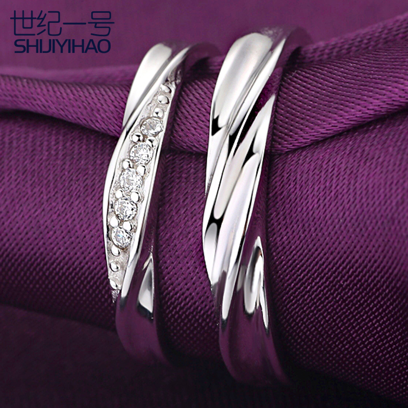 925 silver jewelry couple rings on the ring opening couple rings live on the korean version of the marriage creative jewelry gift free shipping