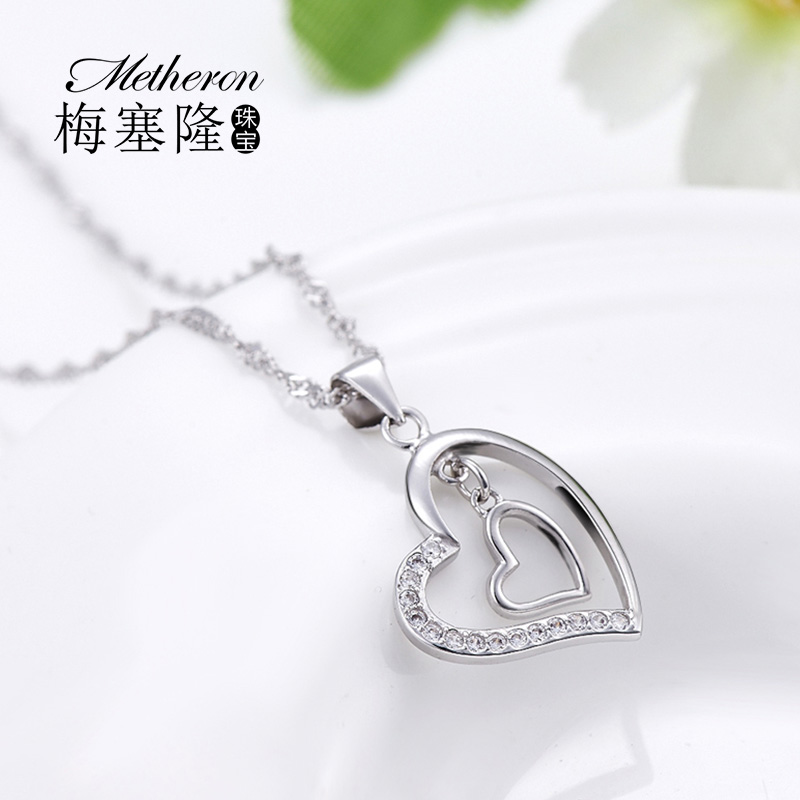 925 silver necklace female short paragraph constellation clavicle chain heart shaped pendant korean version of the popular fashion jewelry can be engraved