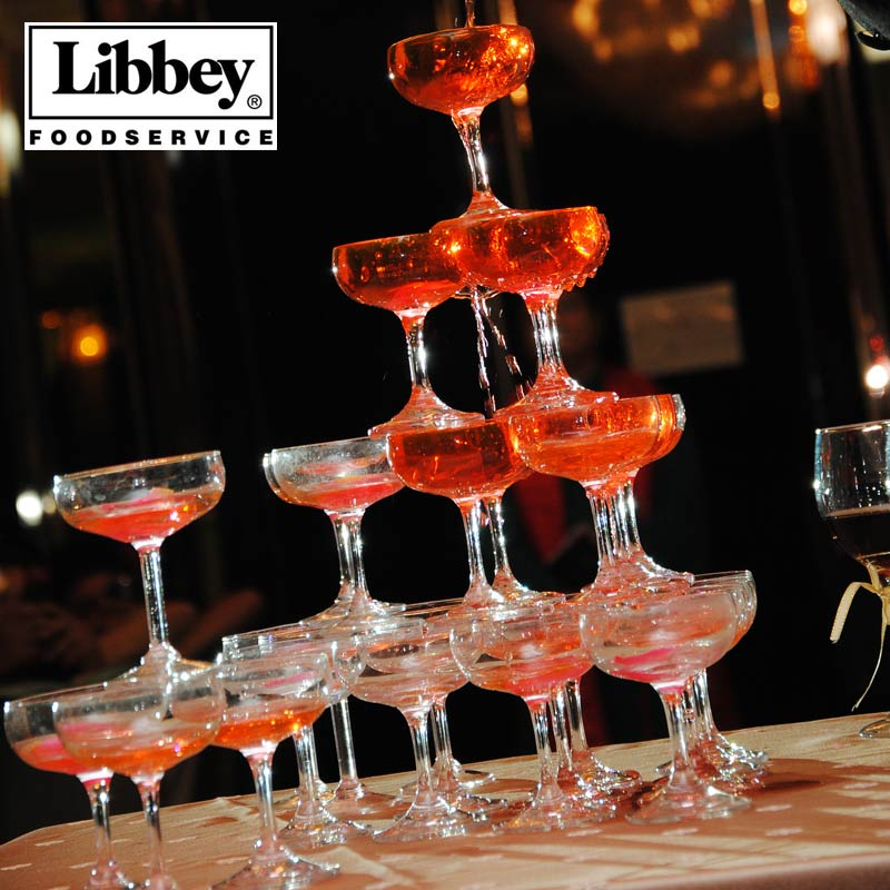 96 american libbey libbey phialiform standard size with a cup of champagne glass champagne tower wedding party applicable