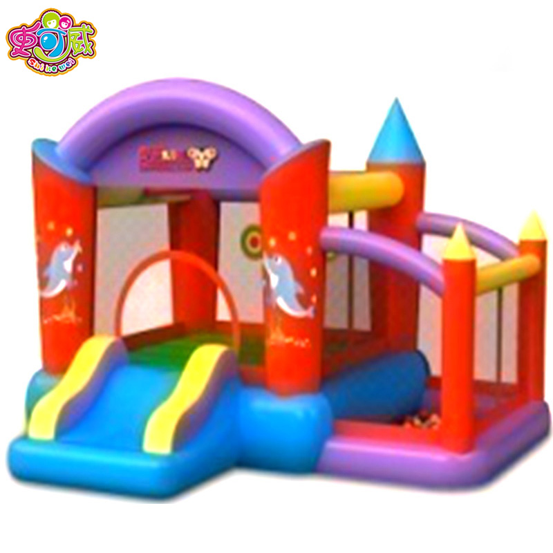 A history of wei electric inflatable inflatable children's playground naughty qinzileyuan phantasmagorical forest air cushion small trampoline