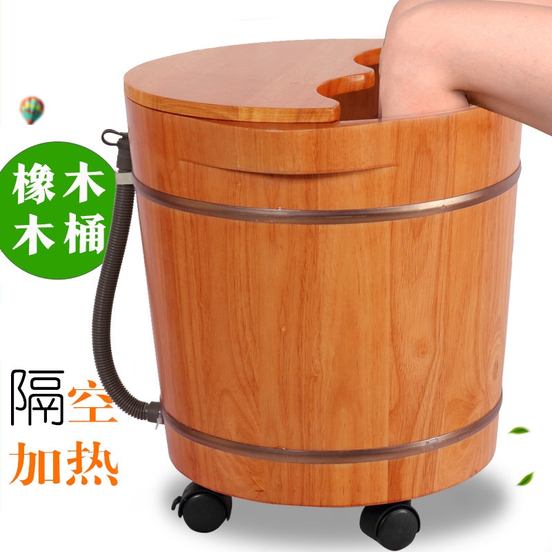 A hundred years tragelaphus oaken thermostat electric heated foot bath barrel lid foot bath massage footbath barrel tubs wood quality