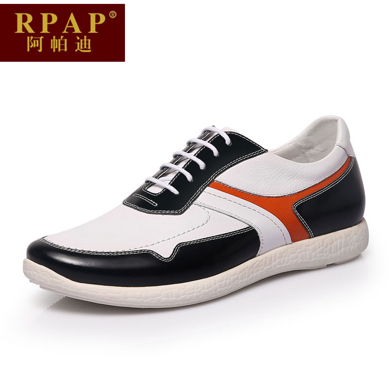 A paddy rpap summer sports and leisure shoes new round lace spell color wearable comfort to help low men shoes tide