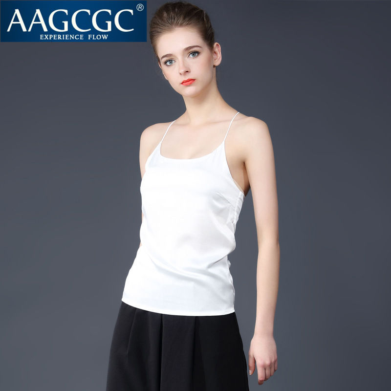 Aagcgc end custom 2016 fine cross shoulder fashion ladies summer new solid color camisole vest 1702