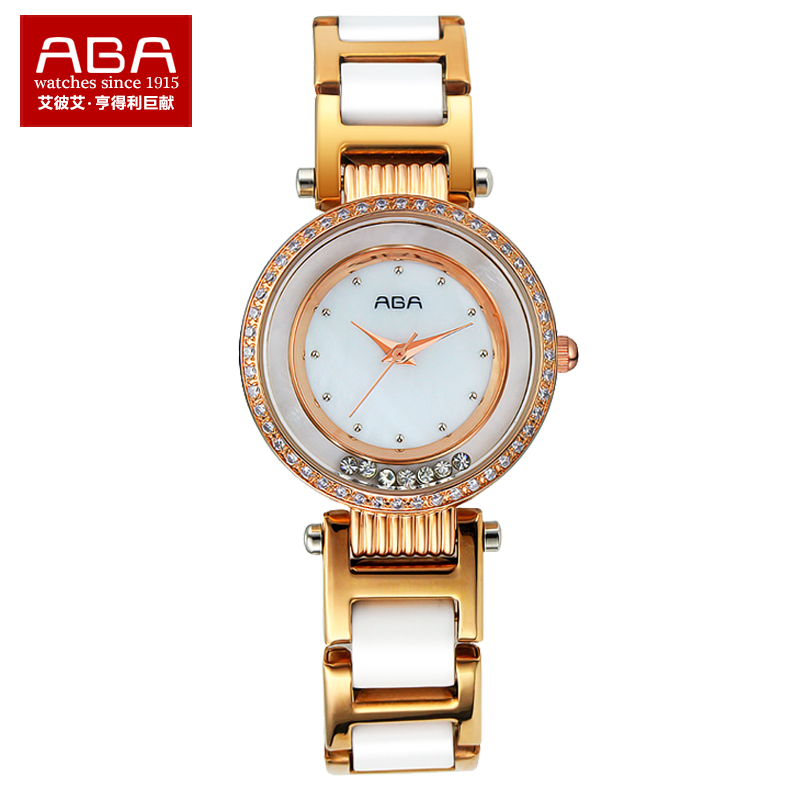 Aba genuine fashion diamond ladies quartz watch students watch korean version of the trend of thin waterproof ceramic watches female form