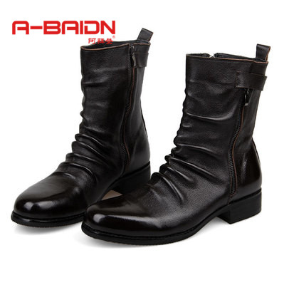 Abaidn/o biden england autumn and winter boots male boots really pima ding boots male boots male shoes when shang trend tall boots 1