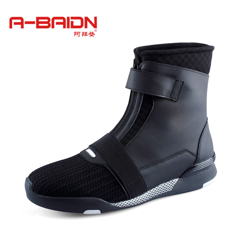 Abaidn/o biden korean fashion autumn and winter boots martin boots high tide to help men's sports and leisure shoes leather shoes 1