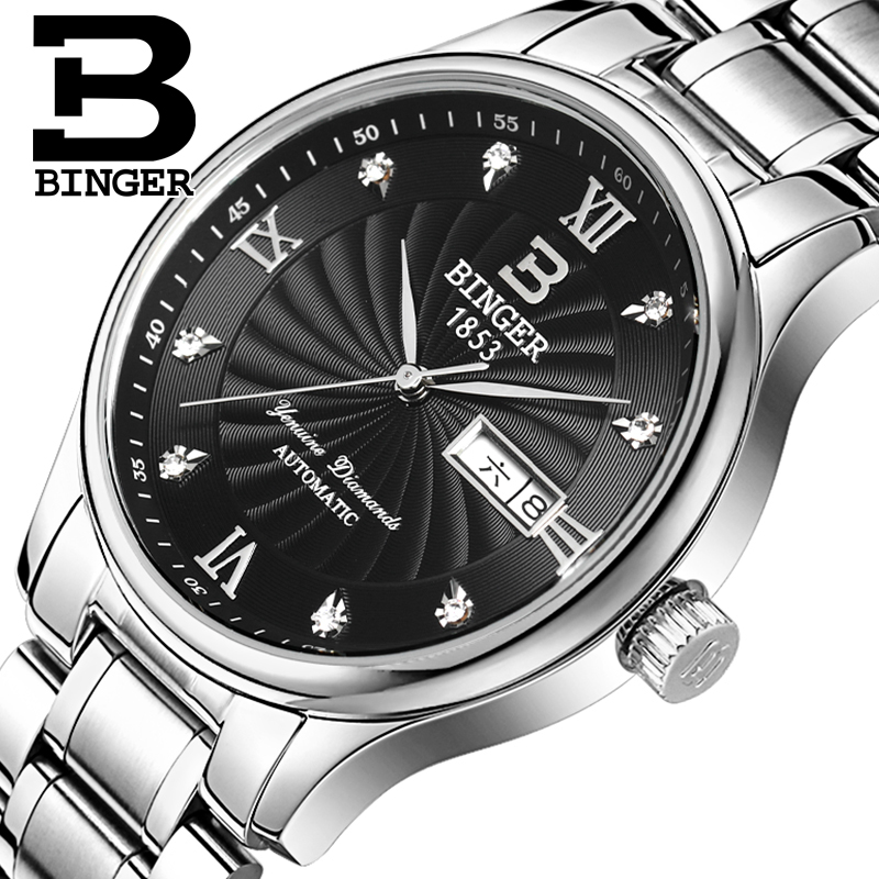 Accusative genuine watches men quartz watch men watch steel belt male watch double calendar waterproof slim business