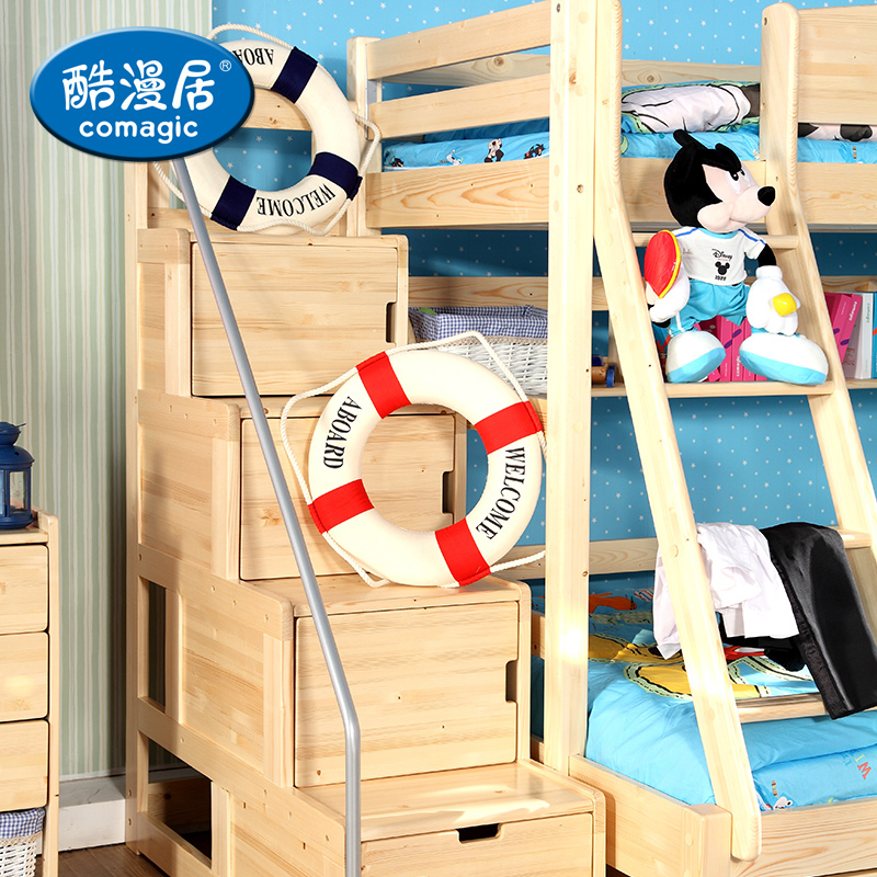 Acg pine double/bunk/with ladder cabinet bed bunk bed ladder cabinet wood lockers acg Cabinets
