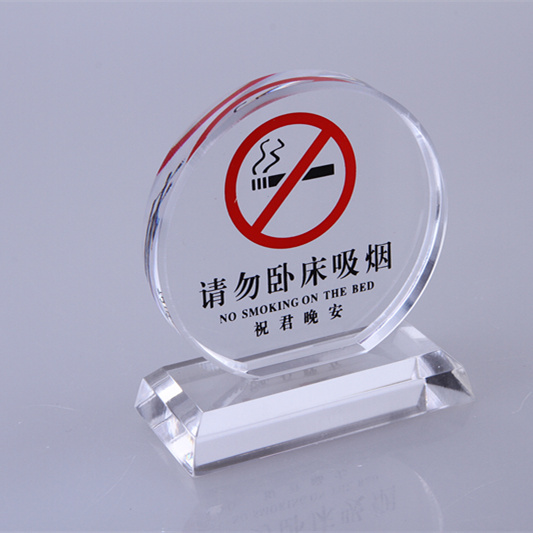 Acrylic upscale zhu lijun goodnight do not smoke in bed smoking signs licensing taiwan card prompt card hotel bedside table card
