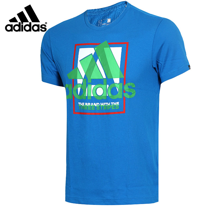 Adidas/adidas t-shirt 2016 summer new men's breathable sports round neck short sleeve t-shirt AI6034