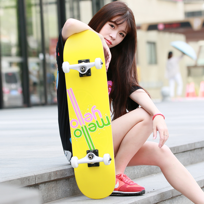 Adult professional skateboarding skateboard double alice skateboard scooter highway brush street children novice novice female foundation scooters