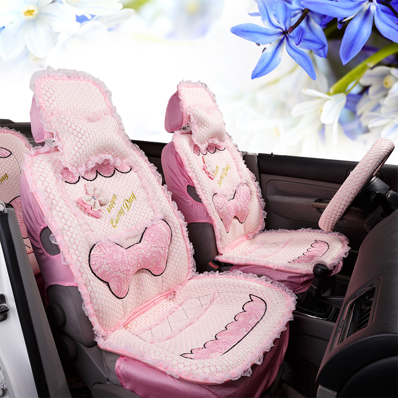 Aes reggae car seat car seat summer 2015 new female lovely lace ice silk car seat cushion liangdian