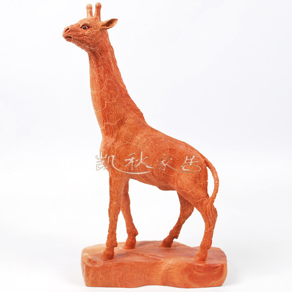 African pear wood carving crafts ornaments feng shui wood ornaments wood carvings wood crafts deer giraffe