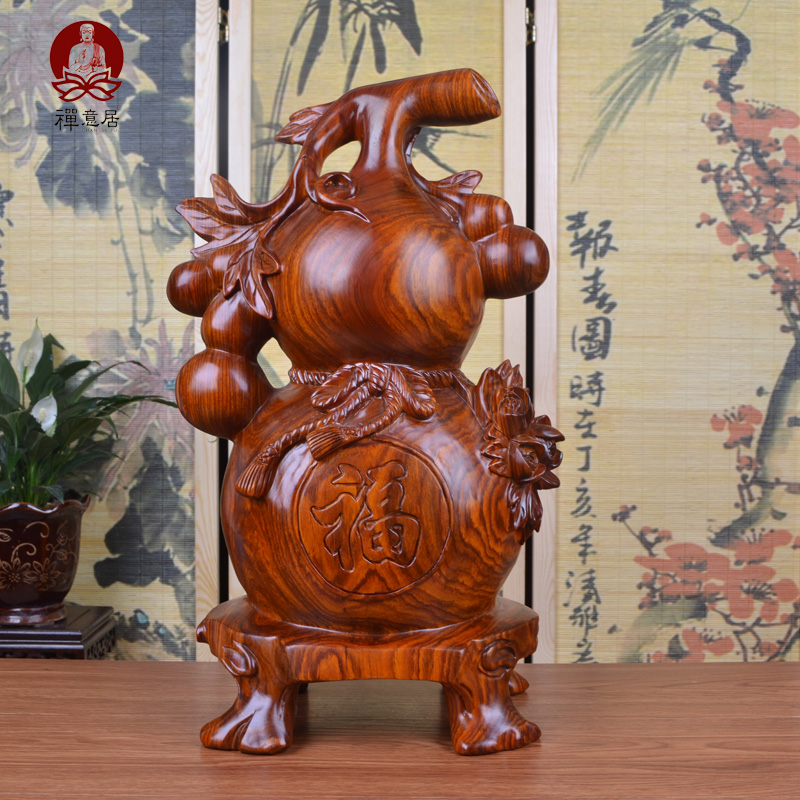African pear wood carving gourd ornaments bedford blessings auspicious fuxing high shine ornaments wood crafts