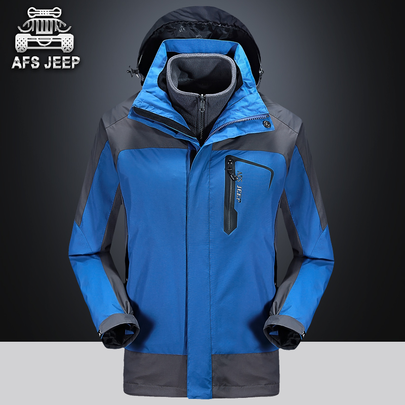 Afs jeep battlefield jeep piece triple jackets men and women winter coat large size outdoor couple models
