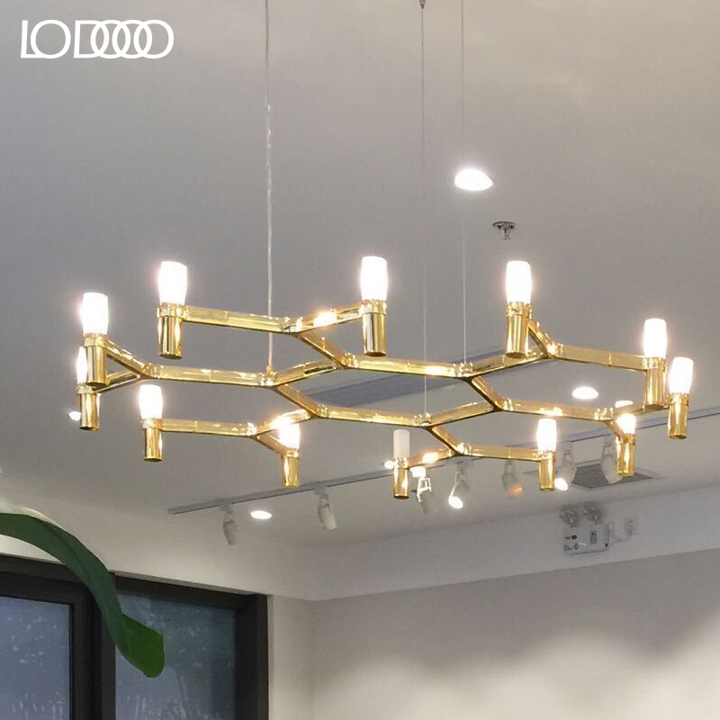 After le lamp modern minimalist clothing store chandelier nordic creative living room lights villa cr own crown led candles round