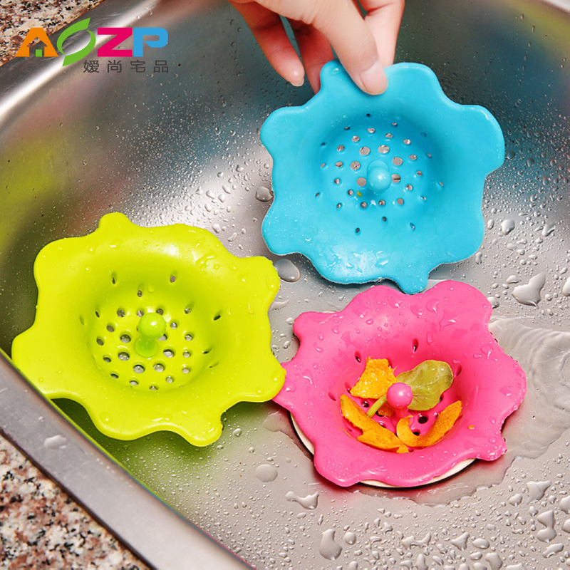 Ai shang house product flower creative kitchen sink strainer sink bathtub drain sewer drain hair hair
