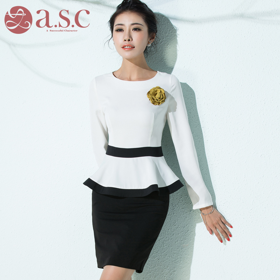 c4320385f4 Get Quotations · Ai shangchen overalls women s suits career suits overalls  beautician career skirt suit two sets of shirts