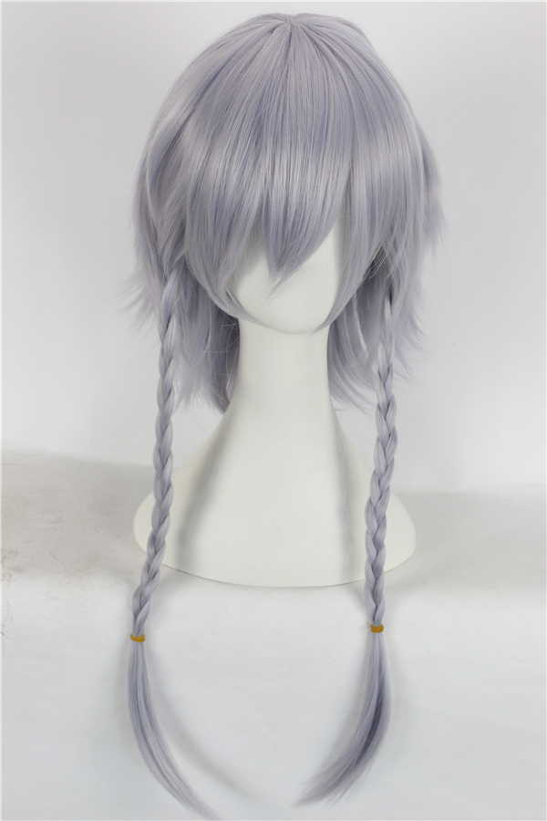 Ai sini wig oriental project reds hall sixteen long maid sakuya izayoi twin braids wig cos