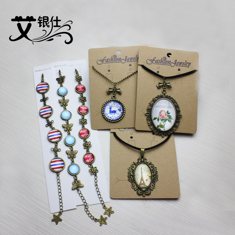 Ai yinshi retro time gemstone jewelry accessories bracelet necklace diy materials inclusive package alloy novice package