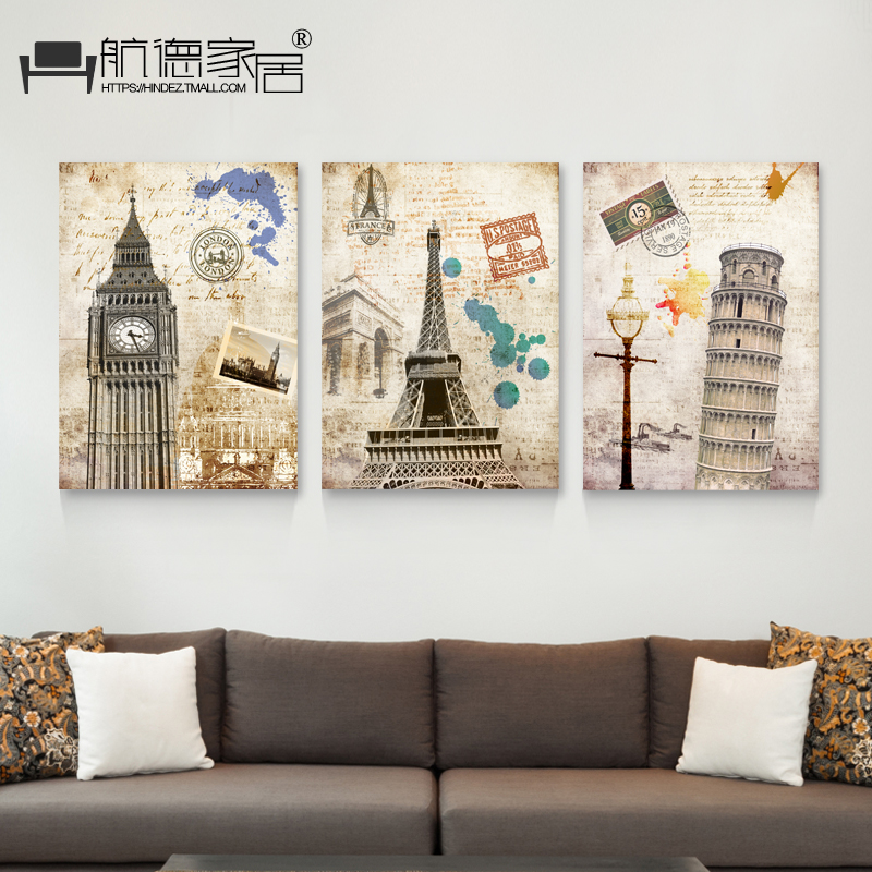 Air de decorative painting the living room european retro nostalgia sofa background painting paintings frameless painting wall painting murals