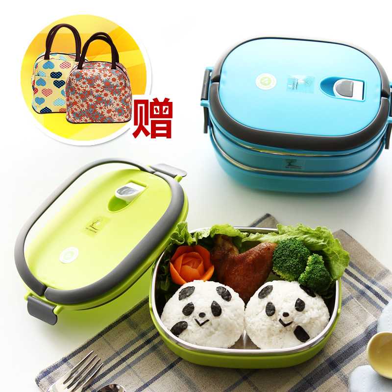 Albert household ceramic multilayer stainless steel insulation boxes sealed student lunch box lunch box lunch box