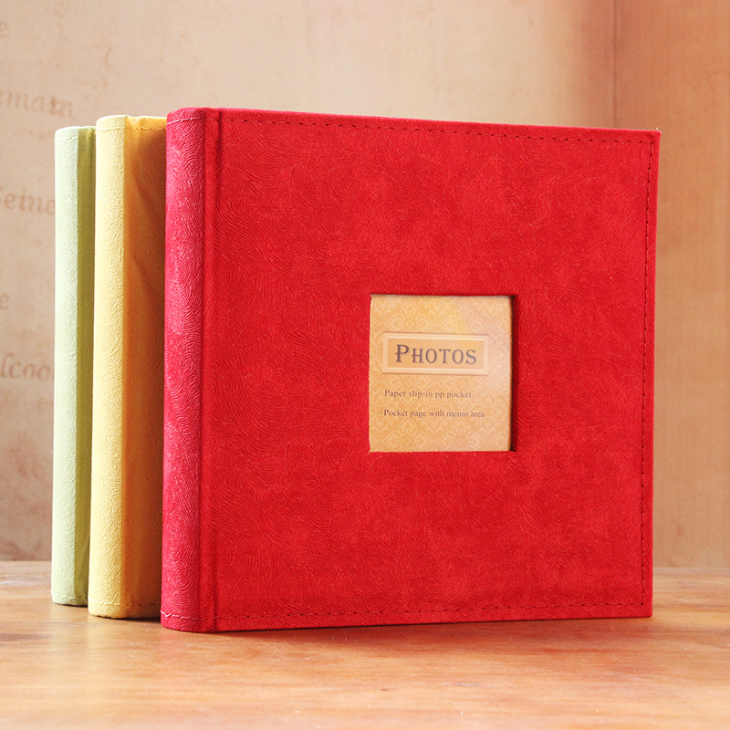 Album album interstitials 4d large 6 inch 200 embossed leather velvet can leave a message family baby grow yearbook