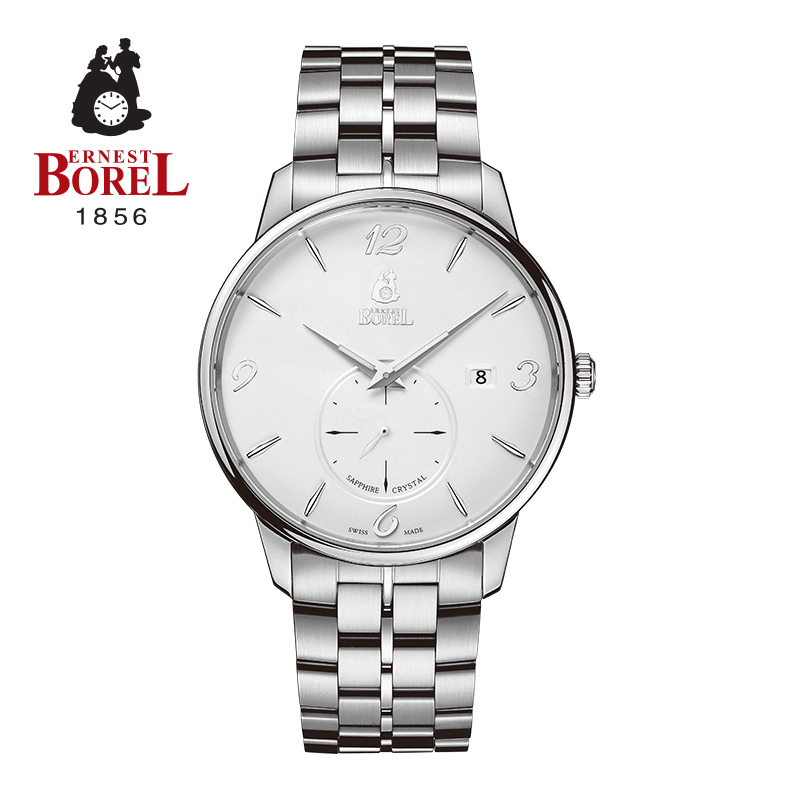 Alice series imported from switzerland borel ernestborel circular table quartz watch men's watch