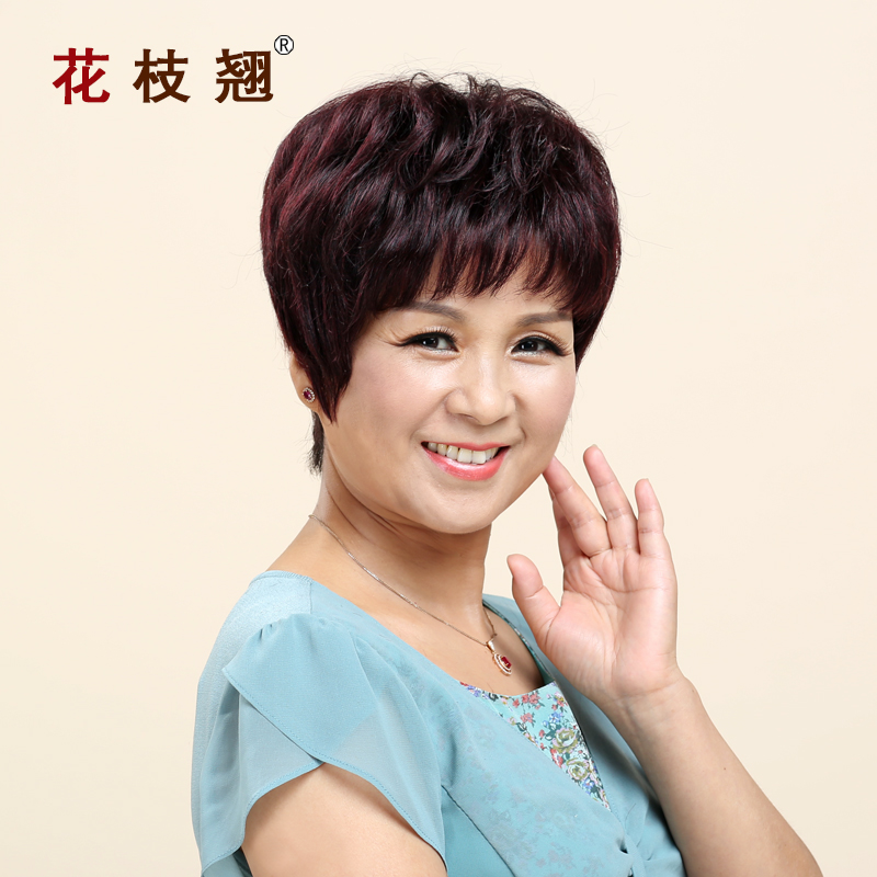 Alice squid real hair real hair wigs real hair wig female short hair wigs short curly hair wig lifelike ms. package