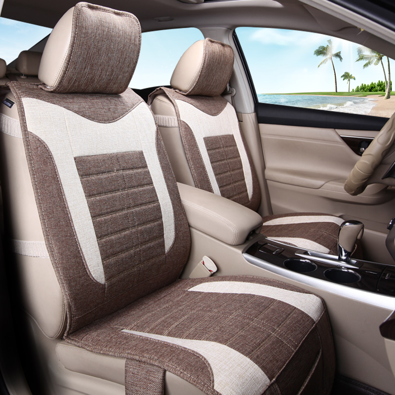 All inclusive linen cushion seat cushion summer car seat cushion four seasons beijing hyundai ix35 lang move yuet shengda whole