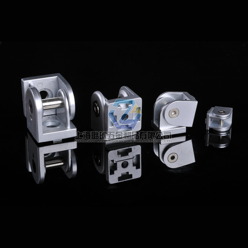 Aluminum alloy hinge industrial aluminum accessories aluminum accessories connected at any angle hinge 4545
