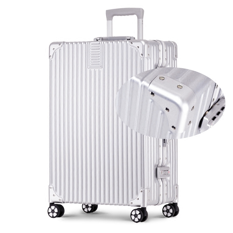 Aluminum frame caster trolley suitcase luggage retro suitcase board chassis suitcase men and women 16 inch 20 24 26 29