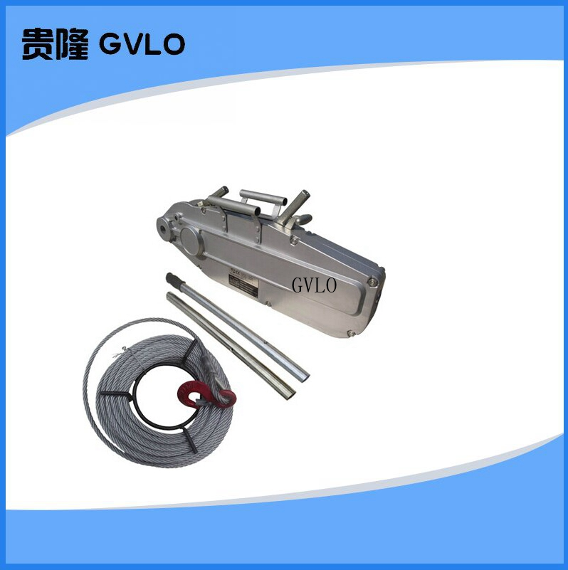 Aluminum wire rope pulling hoist fastening device tractive rally hand hoist wire rope tensioner