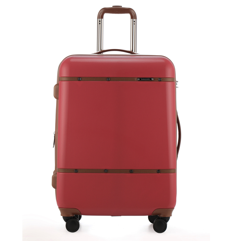Ambassador ambassador luggage trolley suitcase 20 inch female board chassis suitcase aircraft wheel caster lockbox
