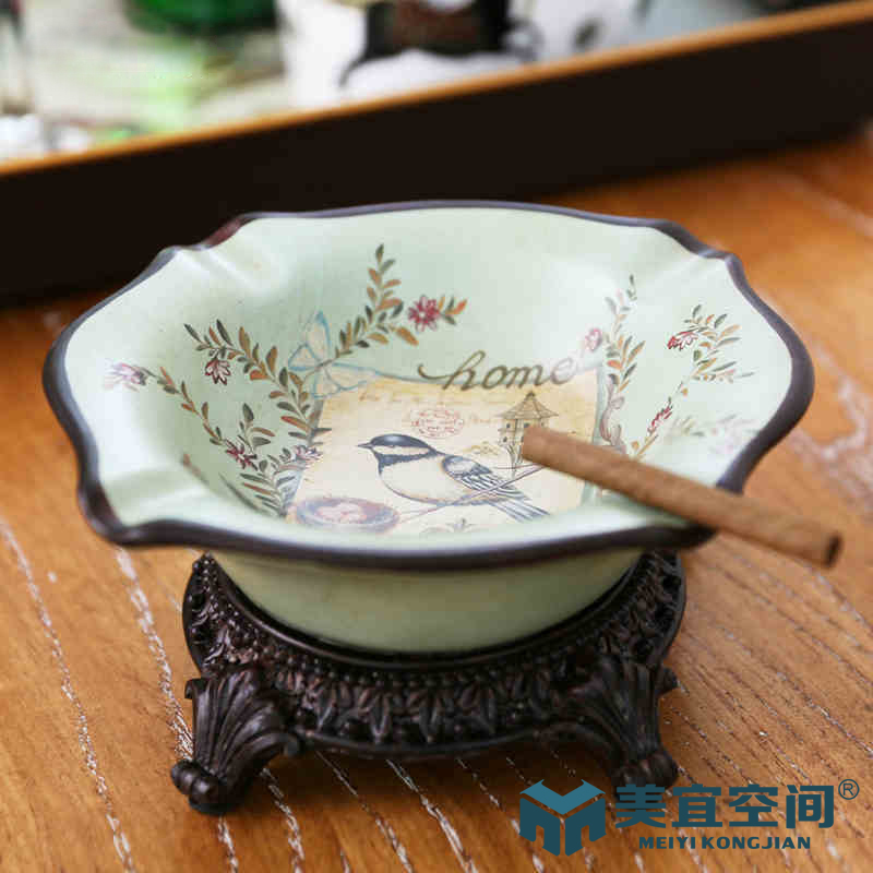America should euclidian home large ceramic ashtray bird ornaments ornaments american country home storage